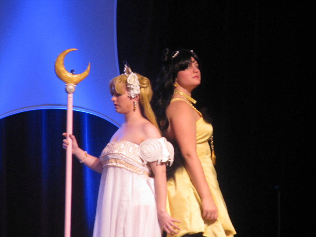 Frozen Rose Cosplay (https://www.facebook.com/pages/Frozen-Rose-Cosplay/281577251976985) as Princess Serenity and Human Luna at Anime Milwaukee 2013's Masquerade. Photo taken by Pally Kashra