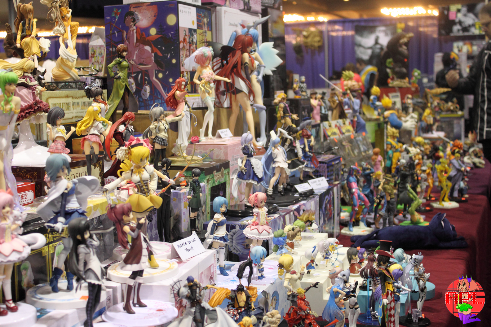 Photo of a bunch of anime figures for sale.